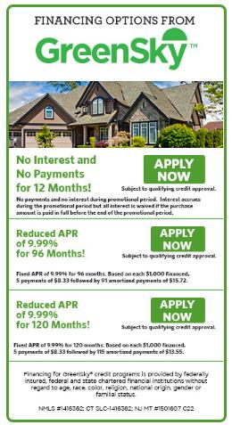 GreenSky Financing Program